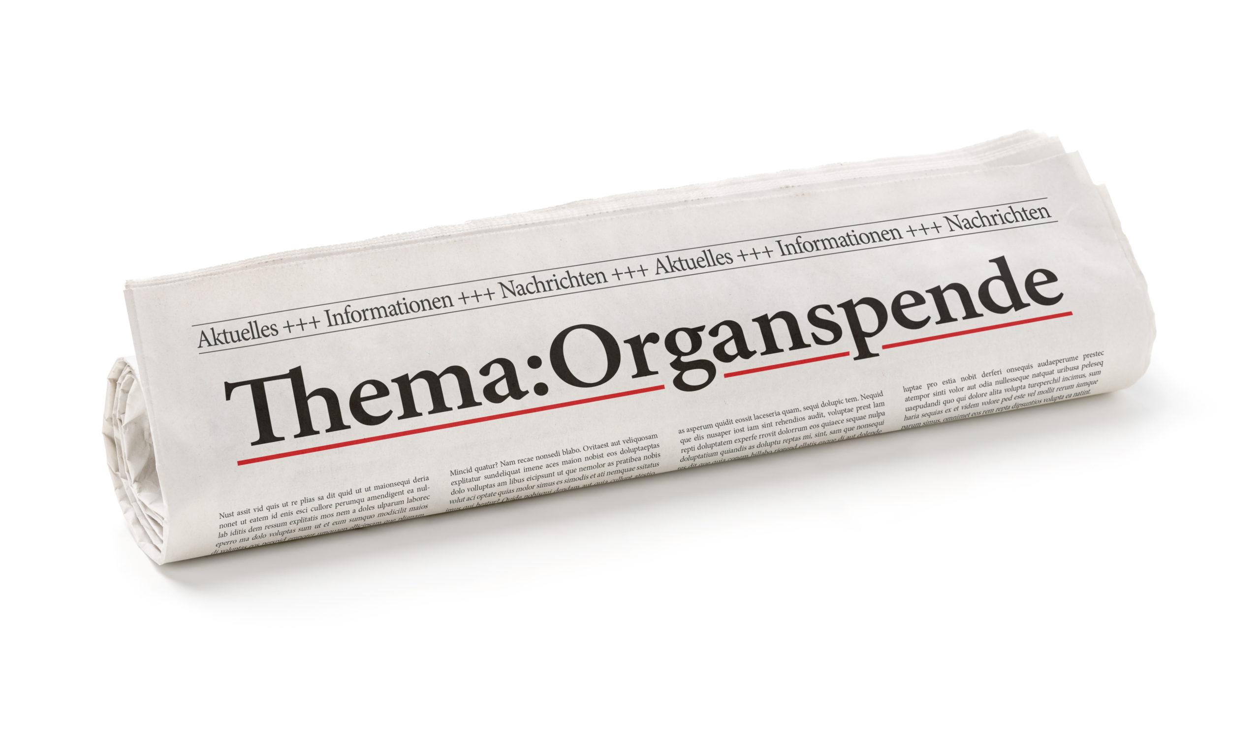 Aktuelles zur Gesetzgebung der Organspende